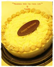 White Choc Macadamia Cheese Cake